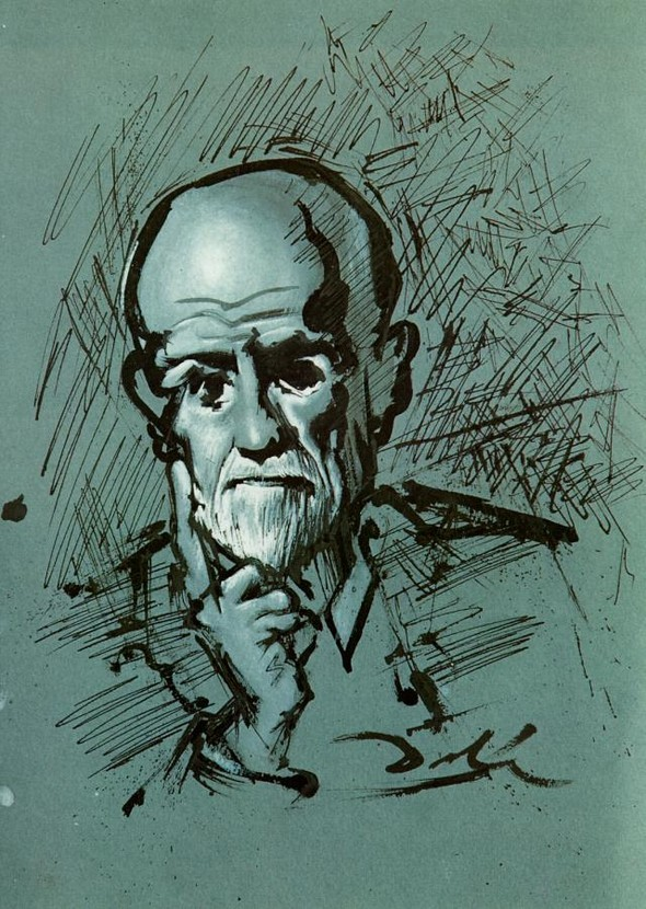 "Сальвадор Дали ""Портрет Фрейда"". 1937 г."