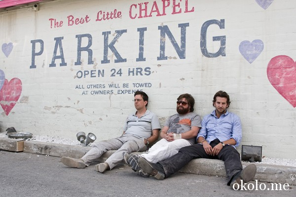 The Hangover movie image Bradley Cooper, Ed Helms, Zach Galifianakis