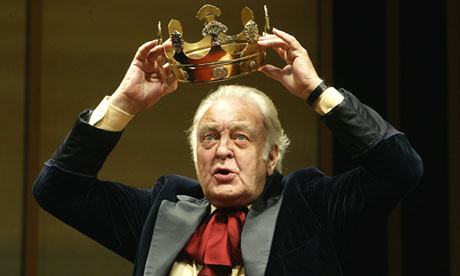 "Donald Sinden in ""The Hollow Crown"" at the Royal Shakespeare theatre, Stratford"