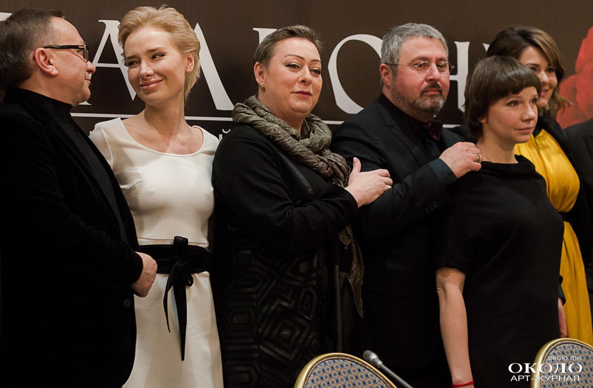 Слева направо: Игорь Угольников, Валерия Шкирандо, Мария Аронова, Дмитрий Месхиев, Ирина Рахманова