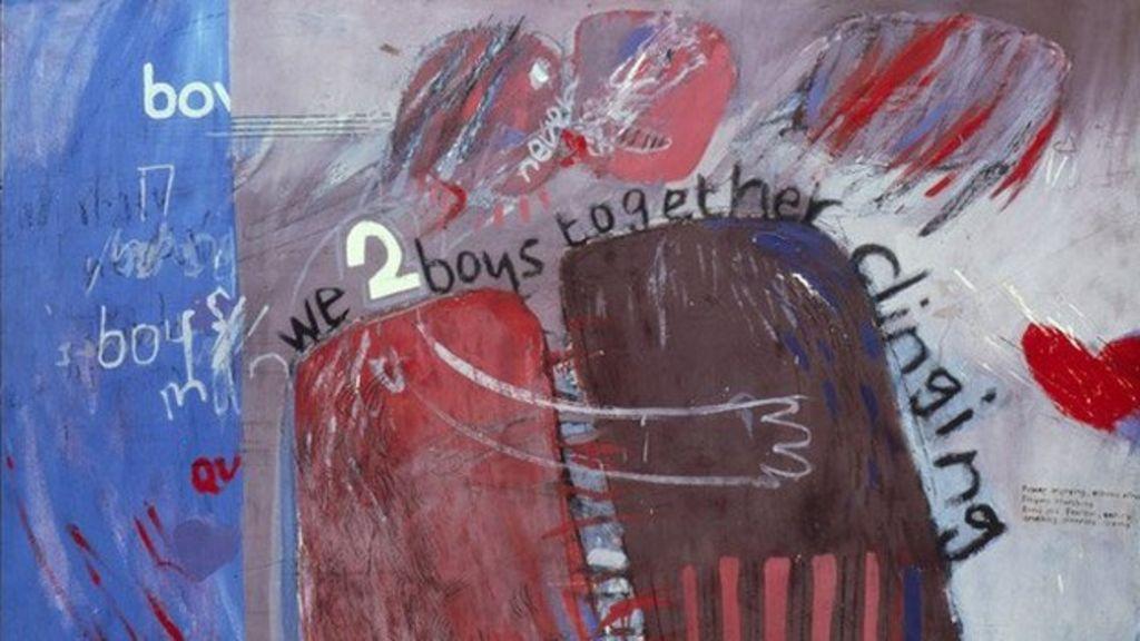 We two boys together clingi by David Hockney
